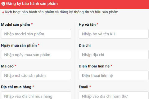 web kich hoat bao hanh